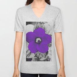 Electric Violet Flower. Unisex V-Neck