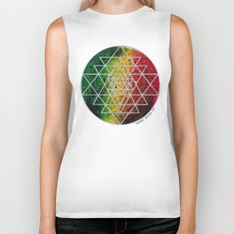Rasta Planet with Sri Yantra Biker Tank
