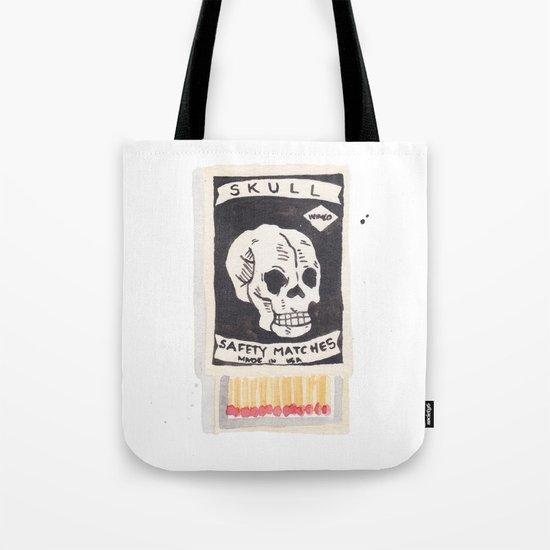 Skull Matchbox Tote Bag