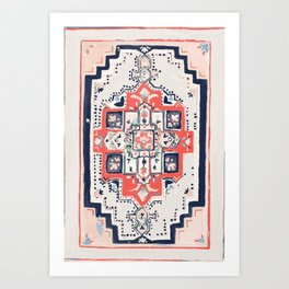 Rugs- Cream Art Print