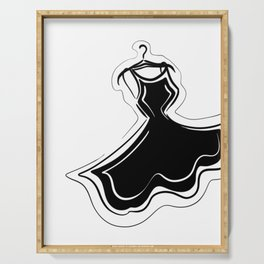 Little Black Dress Serving Tray