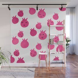 Sweet Pink Pomegranates Wall Mural