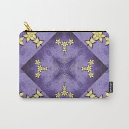Rich purple texture with pretty gold flowers Carry-All Pouch