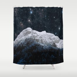 Mountains Attracts Galaxy Shower Curtain