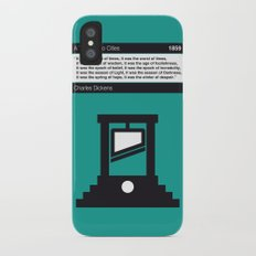 No009 MY Tale of Two Cities Book Icon poster Slim Case iPhone X