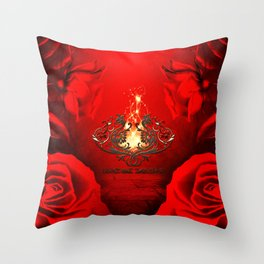 Awesome dragon Throw Pillow