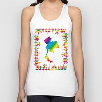 thailand Tank Tops featuring Rainbow Thailand by FACTORIE