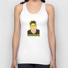 Charlie Sheen Winning_Ink Unisex Tank Top