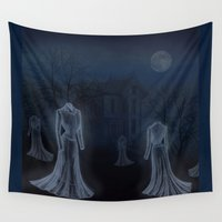 victorian Wall Tapestries featuring Victorian Haunt by Little Bunny Sunshine