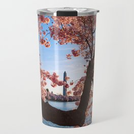 Cherry Blossoms & Washington Monument Travel Mug