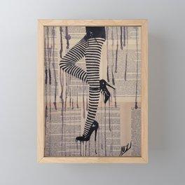 Strip trip Framed Mini Art Print