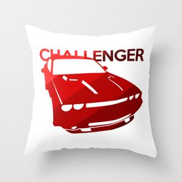 Dodge Challenger - classis red - Throw Pillow