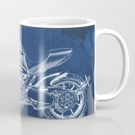 Diavel Carbon Blueprint Coffee Mug