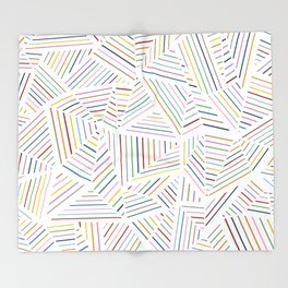 Ab Linear Rainbowz Throw Blanket