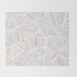 Ab Linear Rainbowz Throw Blanket