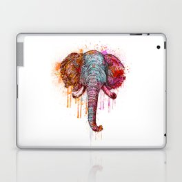 Watercolor Elephant Head Laptop & iPad Skin