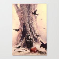 Feeding the Crows Canvas Print