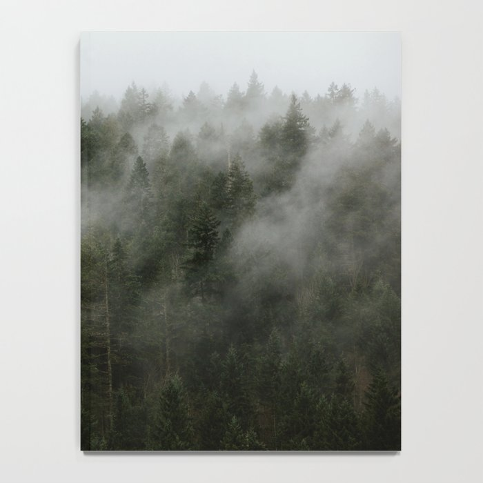 Pacific Northwest Foggy Forest Notebook