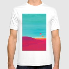 Far Away LARGE White Mens Fitted Tee