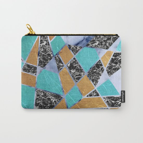 Abstract #444 Marble & Jade Carry-All Pouch