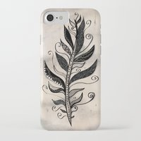 feather iPhone & iPod Cases featuring FEATHER by Nika