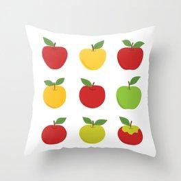 Nine apples Throw Pillow