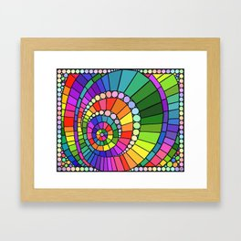 Rainbow Spiral Framed Art Print