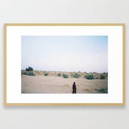 Self portrait, Thar desert Framed Art Print
