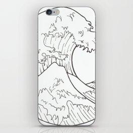 The wave of Kanagawa iPhone Skin