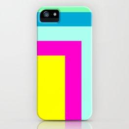 90's colour palette pattern design iPhone Case