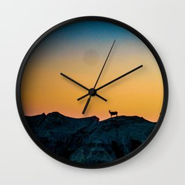 Shadowed Sheep Wall Clock