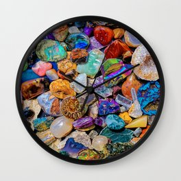 Rocks and Minerals, Geology Wall Clock