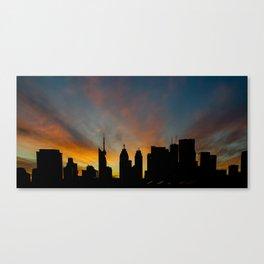Skyline Sunset City Silhouette Canvas Print