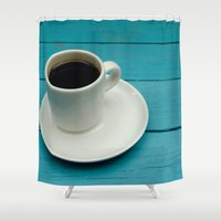 coffe Shower Curtains featuring Coffe by Camaracraft