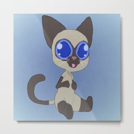 Confused Cat Metal Print