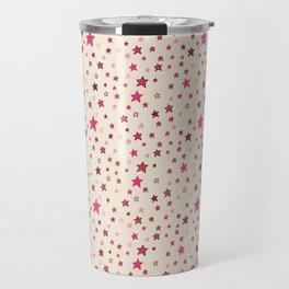 Pink Stars on Cream {Paper Moon Collection} Travel Mug
