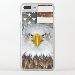 American Bald Eagle Patriot Clear iPhone Case