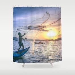 Cast the Net Shower Curtain