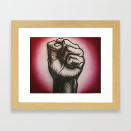 Revolution is now! Framed Art Print
