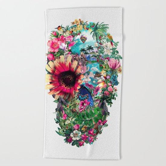 Summer Skull II Beach Towel