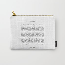Take Chances Carry-All Pouch