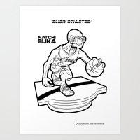 Alien Athletes: Natchi Buka Art Print