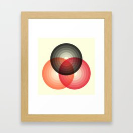 Three colour circles, inspired by Lacouture's Répertoire chromatique Framed Art Print