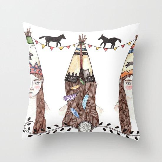 Tipi Party Throw Pillow