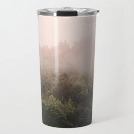 Pink Foggy Forest Landscape Photography Nature Earth Travel Mug