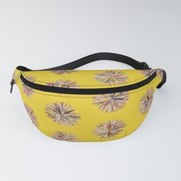 Sunset Poms on Yellow Field Fanny Pack