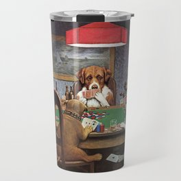 Dogs Playing Poker A Friend in Need Painting Travel Mug
