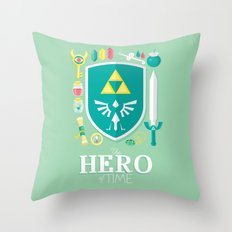 Hero of Time Throw Pillow