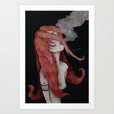 Celosia - Fire Muse Art Print
