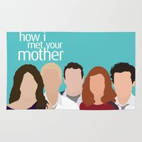how i met your mother Area & Throw Rugs featuring How I Met Your Mother by Rosaura Grant
